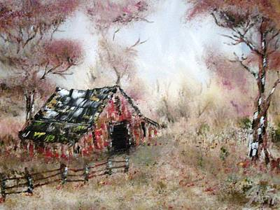 Gypsy Painting - Lost Barn by The GYPSY