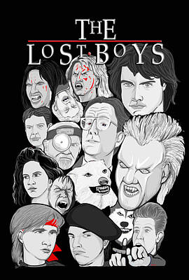 Lost Boys Collage Art Print by Gary Niles
