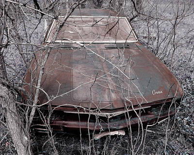 Art Print featuring the photograph Lost Corvair Adjustment  by Christopher McKenzie