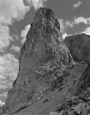 Photograph - 109333-bw-lost Eagle Pinnacle, Wind Rivers by Ed  Cooper Photography