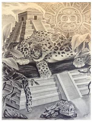 how to draw an aztec temple