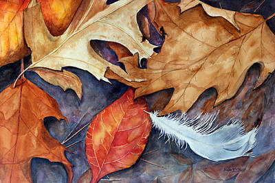 Leaf Painting - Lost Feather by Enola McClincey