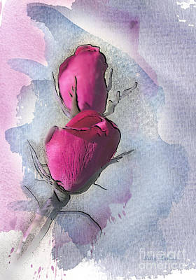 Floral Digital Art Digital Art - Lost In Beauty 2 by Betty LaRue