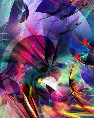 Print featuring the digital art Lost In Hyperspace by David Lane