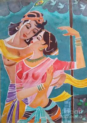 Painting - Lost In Love by Chintaman Rudra