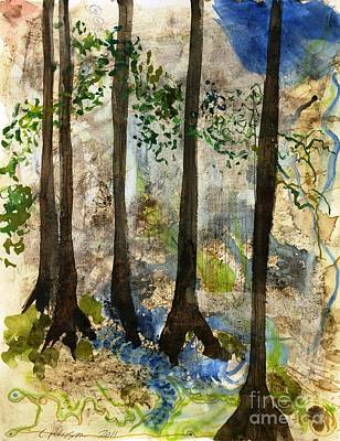 Lost In My Own Forest.  Coffee Works Series. 2011 Original by Cathy Peterson