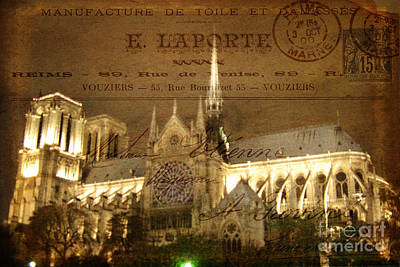 Photograph - Lost In Paris Post Card by Lee Dos Santos