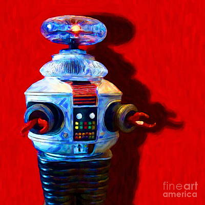 Robotics Digital Art - Lost In Space Robot - 20130117 - Square by Wingsdomain Art and Photography