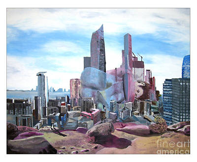 City Scape Painting - Lost In The City by Kevin Martin