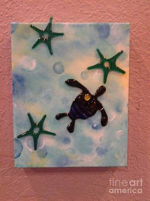 Moonlit Night Mixed Media - Lost In The Gulf Stream by Michele Palenik