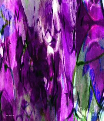 Purple Robe Painting - Lost In The Marketplace by RC DeWinter