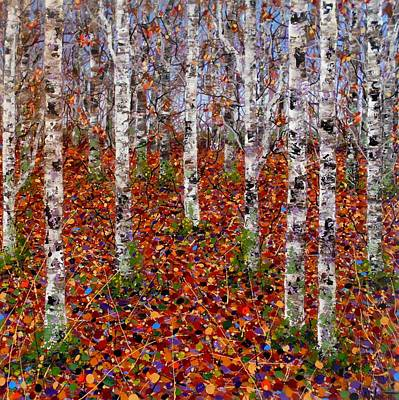 Vivid Colour Painting - Lost In The Woods by Angie Wright