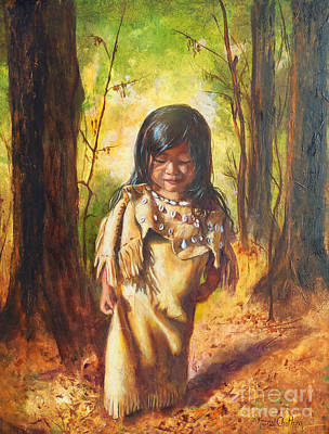 Painting - Lost In The Woods by Karen Kennedy Chatham