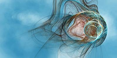 Fractal Other Worlds Digital Art - Lost In Thought Eternal by Richard Pennells