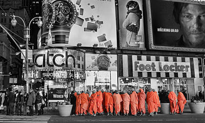 Tibetan Buddhism Photograph - Lost In Times Square by Lee Dos Santos