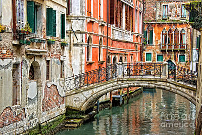 Canal Street Photograph - Lost In Venice by Delphimages Photo Creations
