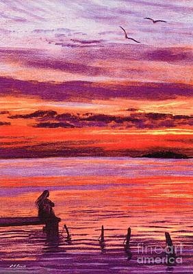 Purple Sky Painting - Lost In Wonder by Jane Small