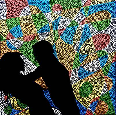 Painting - One Kiss by Kruti Shah