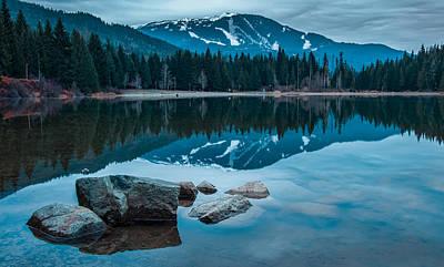 Mountain Reflection Lake Summit Mirror Photograph - Lost Lake by James Wheeler