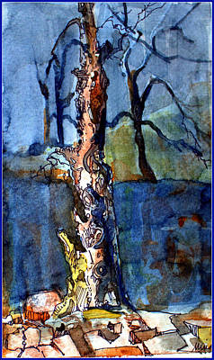 Mystical Landscape Mixed Media - Lost Memories by Mindy Newman