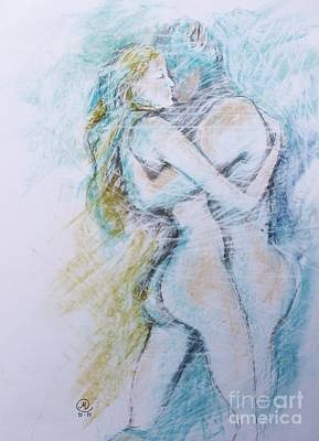 Drawing - Lost On A Man by Marat Essex