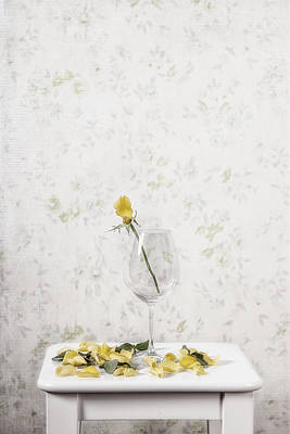 Wine Photograph - Lost Petals by Joana Kruse