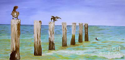 Lost Pier Original by Christine Dekkers