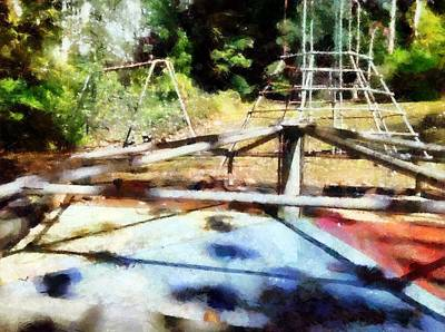 Painting - Lost Playground by Derek Gedney