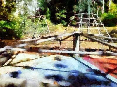 Digital Art - Lost Playground by Derek Gedney