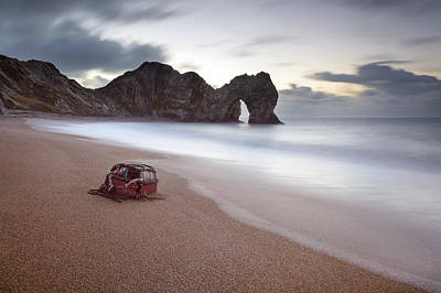Lost Property At Durdle Door Art Print by Chris Frost