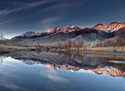Photograph - Lost River Mountains Winter Reflection by Leland D Howard