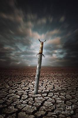 Protector Photograph - Lost Sword by Carlos Caetano