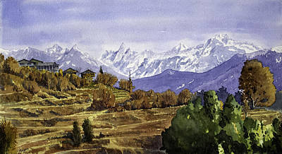 Lot Village Landscape Original by Mayank M M Reid