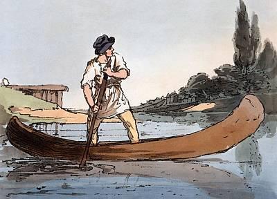 Canoe Drawing - Lotka, 1804 by John Augustus Atkinson