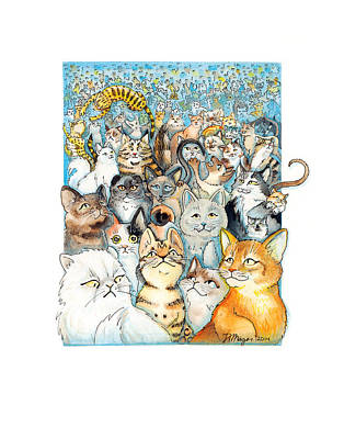 Painting - Lots Of Cats by JA Mager