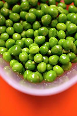 Lots Of Peas In Bowl Of Water Art Print