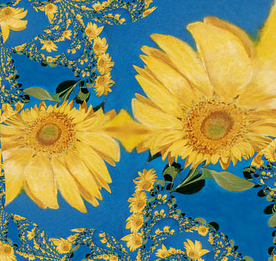 Digital Art - Lots Of Sunflowers by Jamie Frier