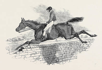 Herring Drawing - Lottery, The Celebrated Steeple Chase Winner by English School