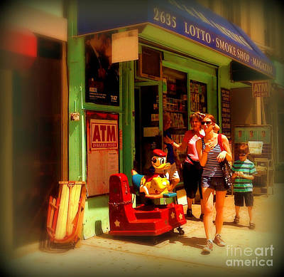 Photograph - Lotto Smokeshop - New York City Street Scene - People Of New York by Miriam Danar
