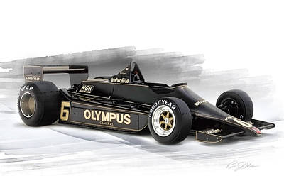 Andretti Digital Art - Lotus 79 by Peter Chilelli