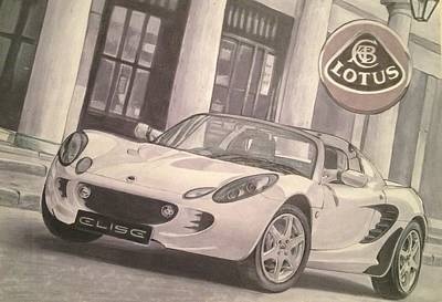 Sportscar Drawing - Lotus by Aaron Kochut