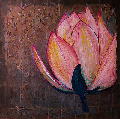 Lotus Bud Painting - Lotus Blooming by Amy Tanathorn
