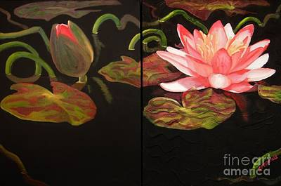 Painting - Lotus Bud To Bloom by Janet McDonald