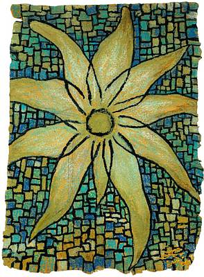 Indian Ink Mixed Media - Lotus by Carla Sa Fernandes