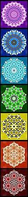 Digital Art - Lotus Chakra Chart by Derek Gedney