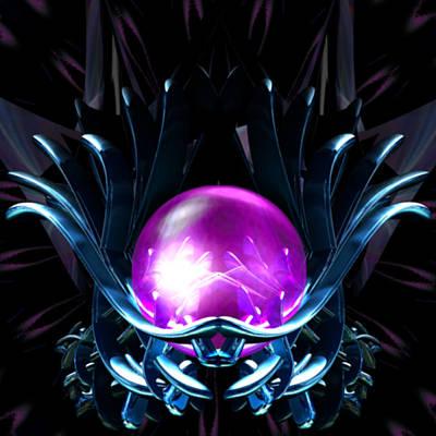 Digital Art - Lotus Crystal by Elizabeth S Zulauf