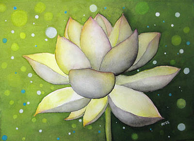 Painting - Lotus Dream by Oiyee At Oystudio