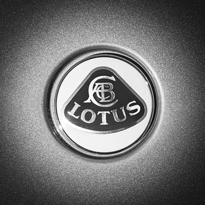 Photograph - Lotus Emblem -0495bw by Jill Reger