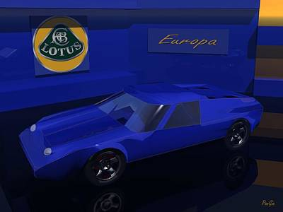 Digital Art - Lotus Europa by John Pangia