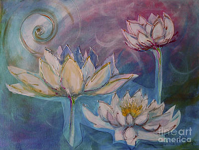 Mixed Media - Lotus Flower 4 by Sandra Taylor-Hedges